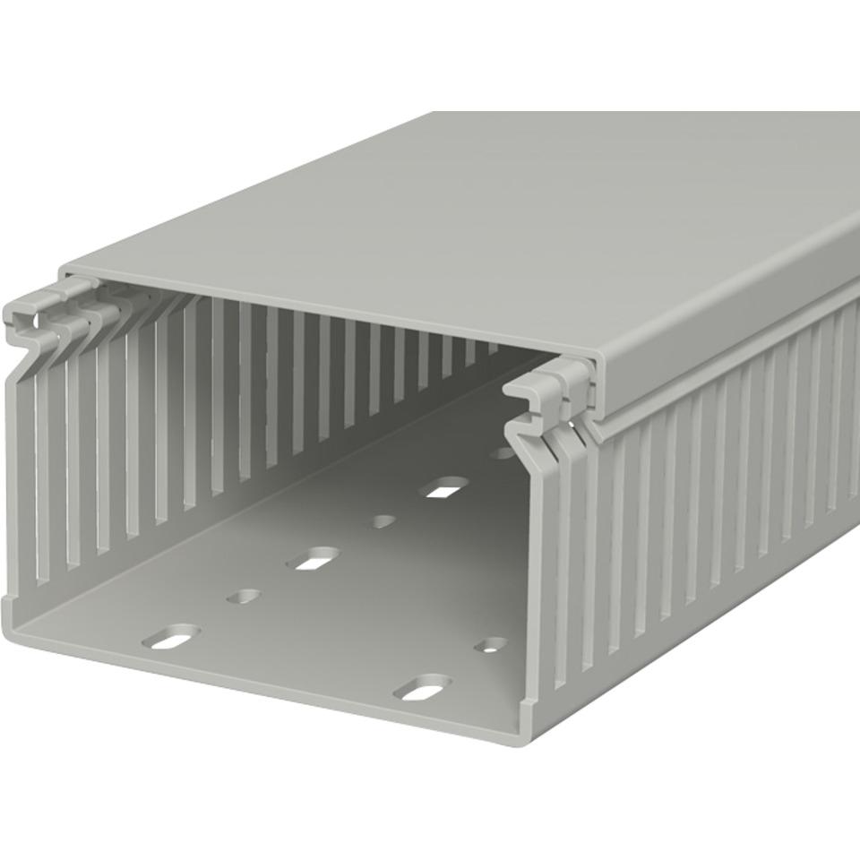 Slisset kanal LK 60100 med lokk grå PVC 100x60