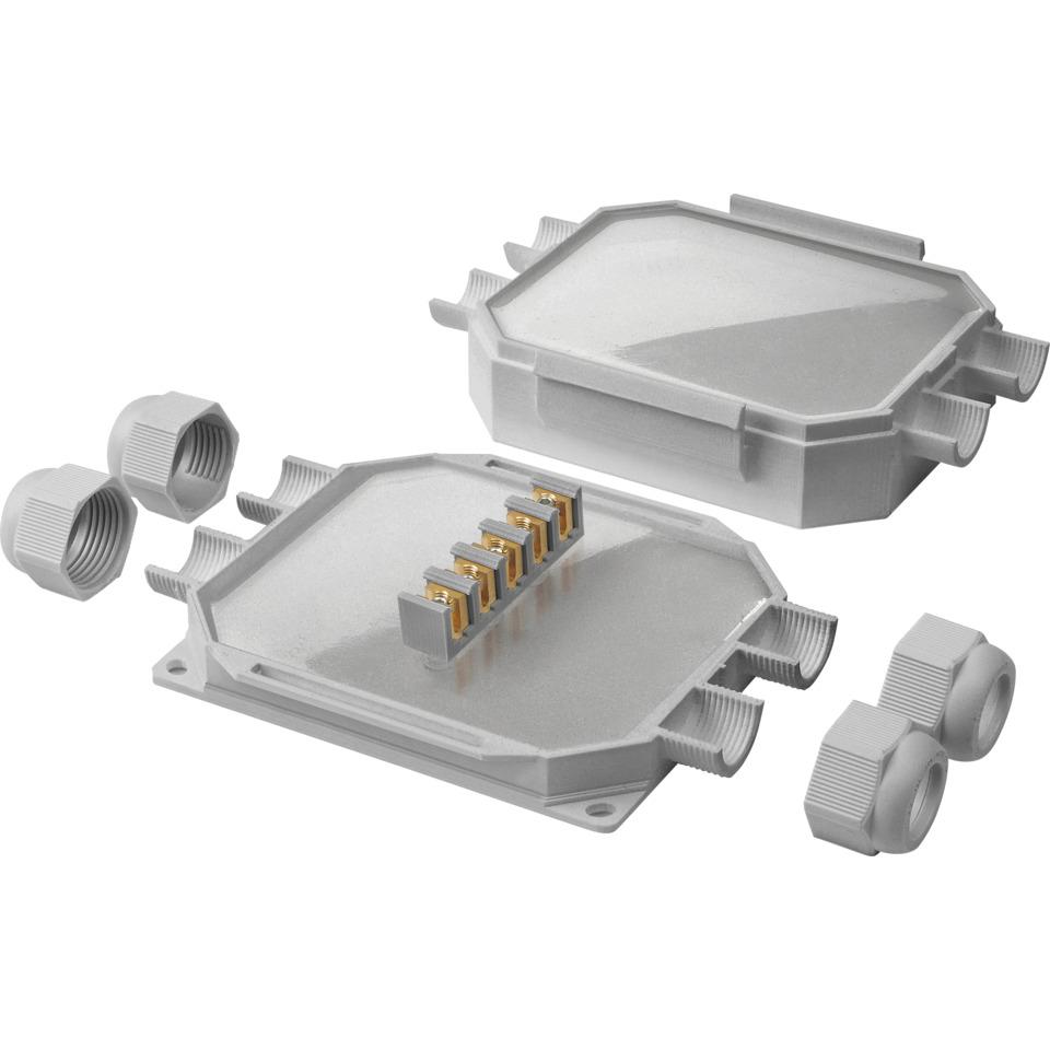 Prefylt IP68 koblingsboks 6mm² Gel Boks