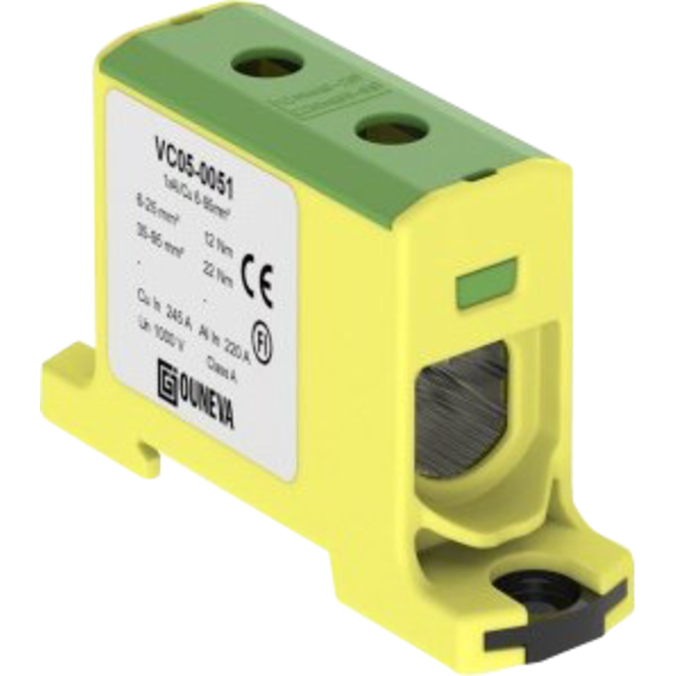 Klemme isolert OTL 1x35-240mm² AL/CU Gul/Grønn