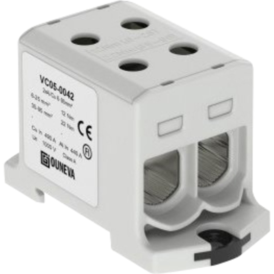 Klemme isolert OTL 2x35-240mm² AL/CU Grå