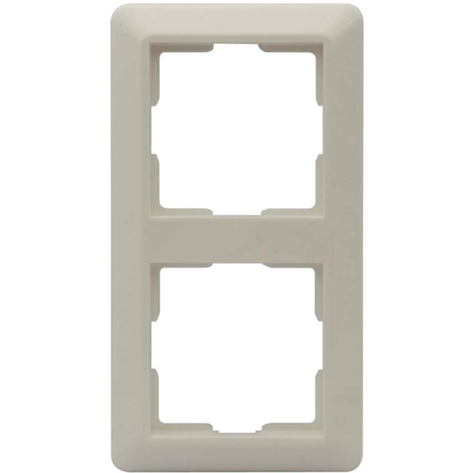 Namron Kombinasjonsplate 2-Hull Hvit
