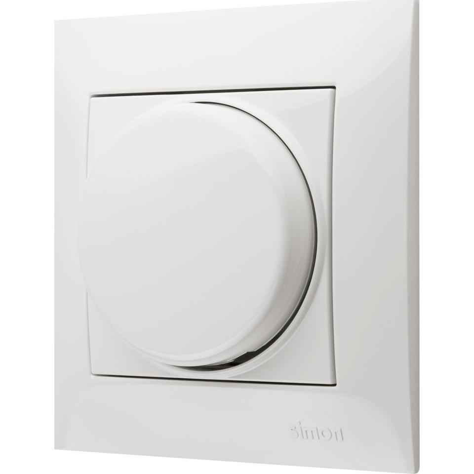 Simon Dimmer 20-500W elektronisk trafo/230V Halogen Hvit