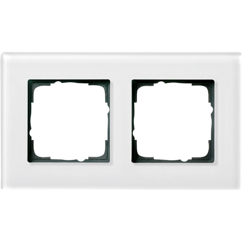 2-H RAMME HVITT GLASS ESPRIT