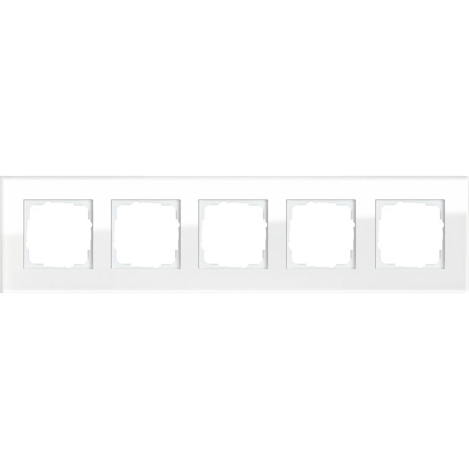 5-H RAMME HVITT GLASS ESPRIT