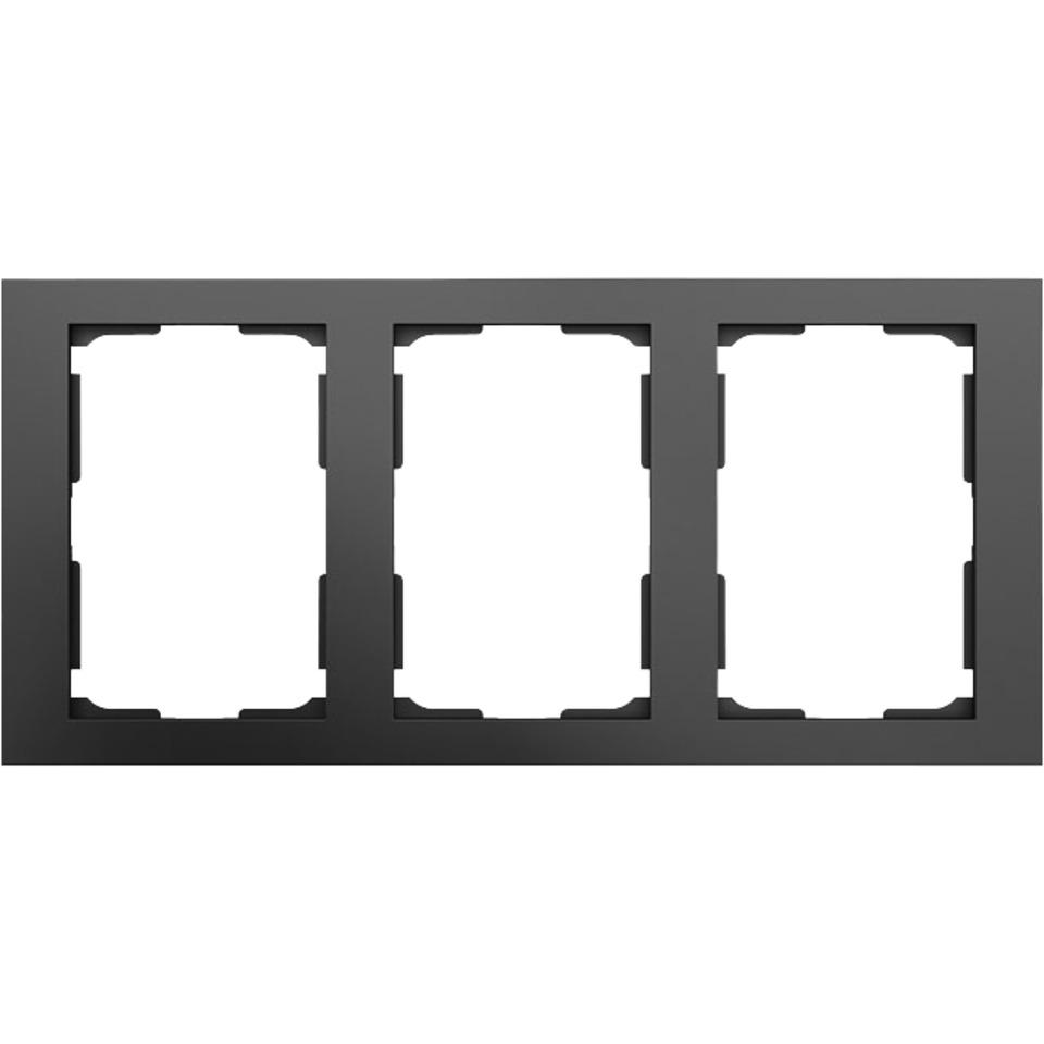 Ramme 3-Hull Plus dblstikk Sort Elko