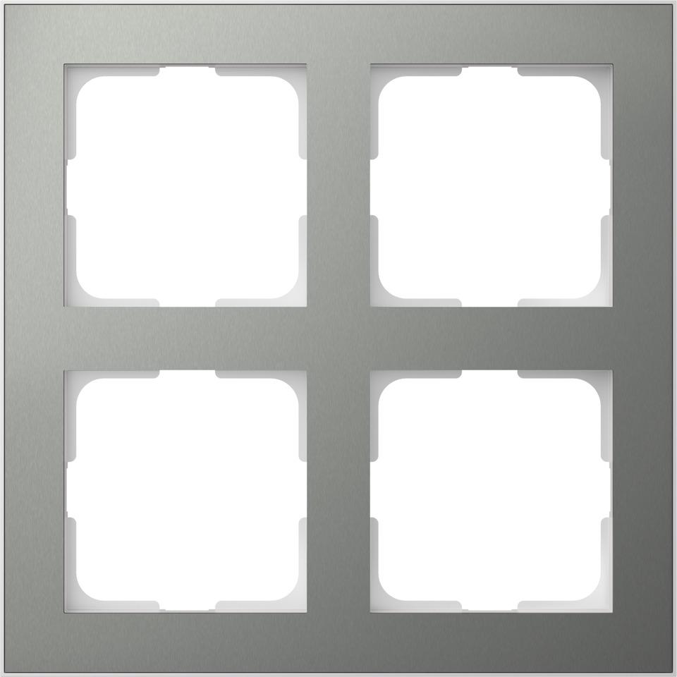 Elko Plus Layer ramme AL/Gunmetal MR 2x2H