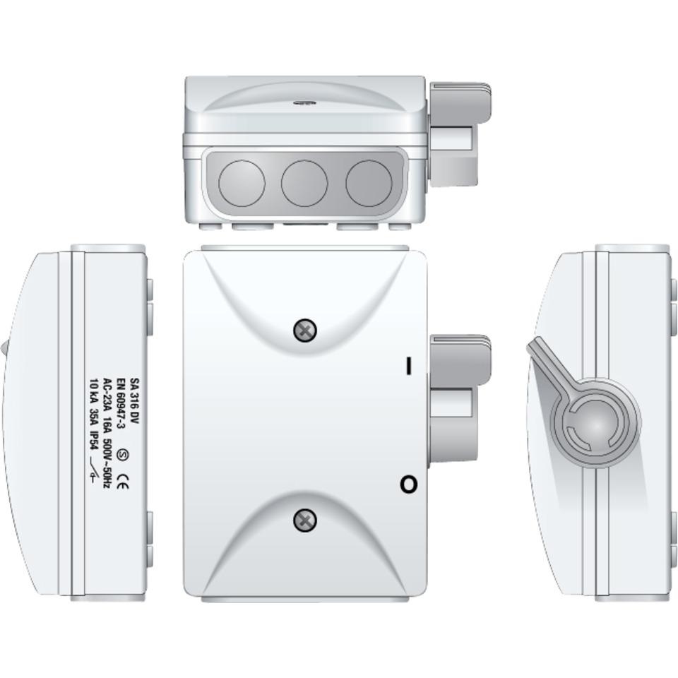 Sikkerhetsbryter SA316 DV Hvit