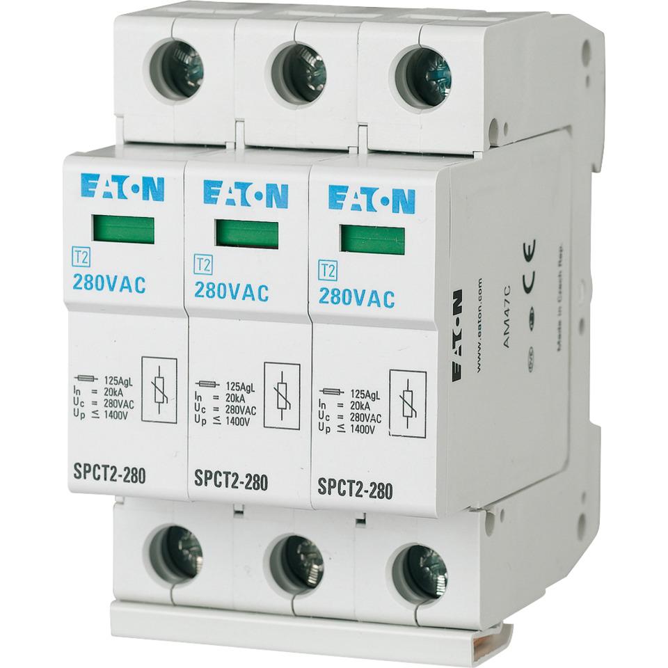 Overspenningsvern SPCT2-385/3 3-polet 385VAC 3x20kA Eaton