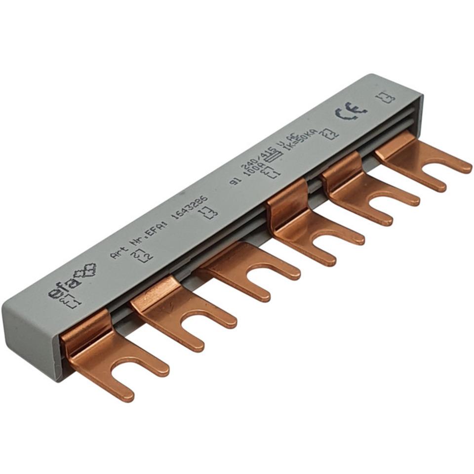 Samleskinne OV-Overspenningsvern 3P-gaffel-10mm²