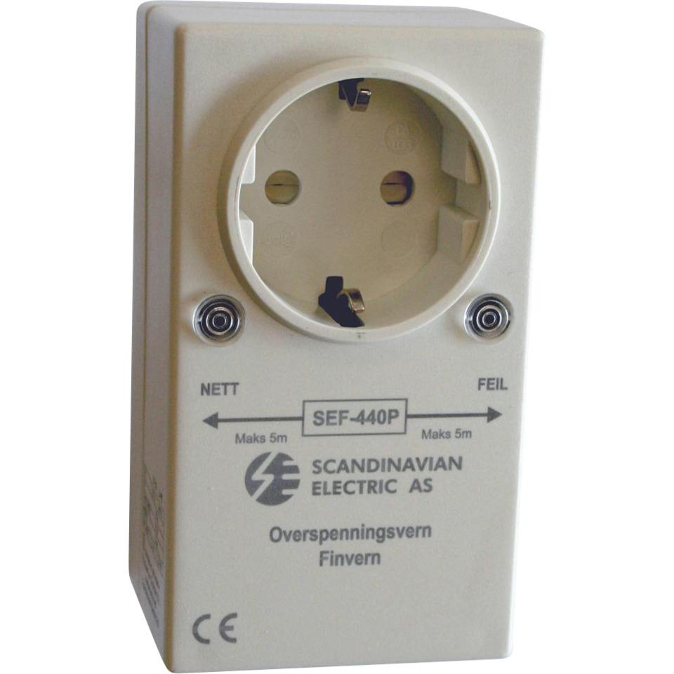 Overspenningsvern SEF-440P Pluggbart finvern for stikkontakt