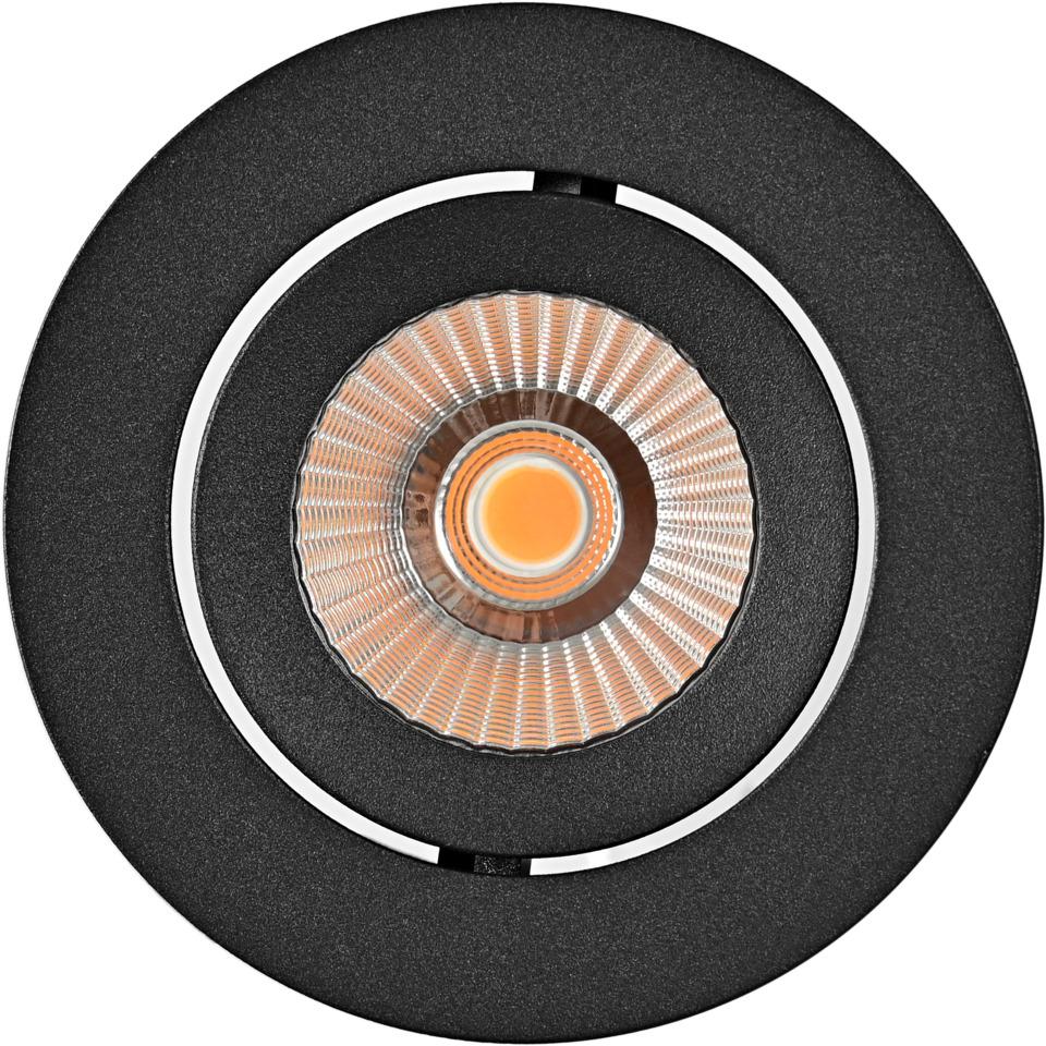Alfa reflektor Downlight 10W matt sort