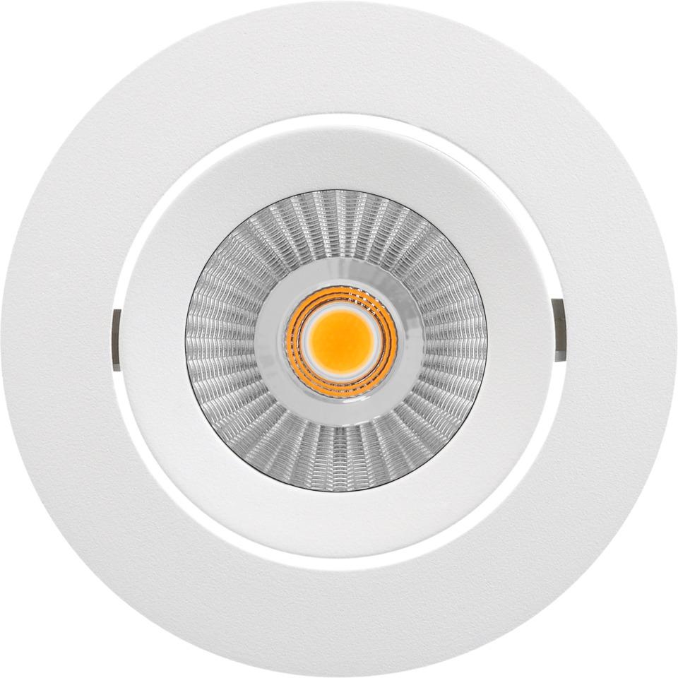 Alfa reflektor Downlight 10W matt hvit