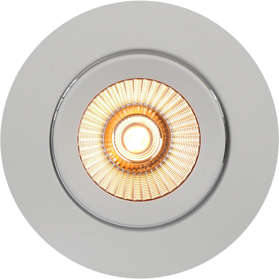 Alfa reflektor 360-tilt Downlight Warmdim 8W matt hvit