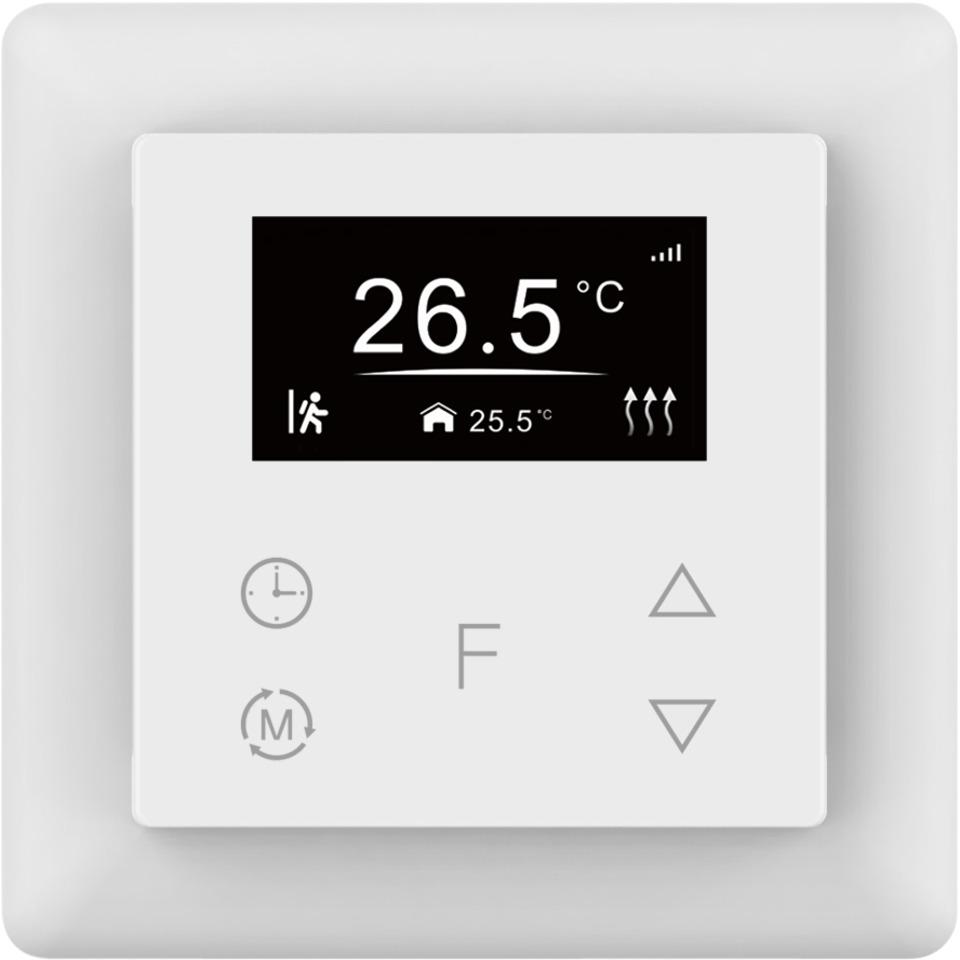 Namron termostat touch Z-Wave 16A hvit