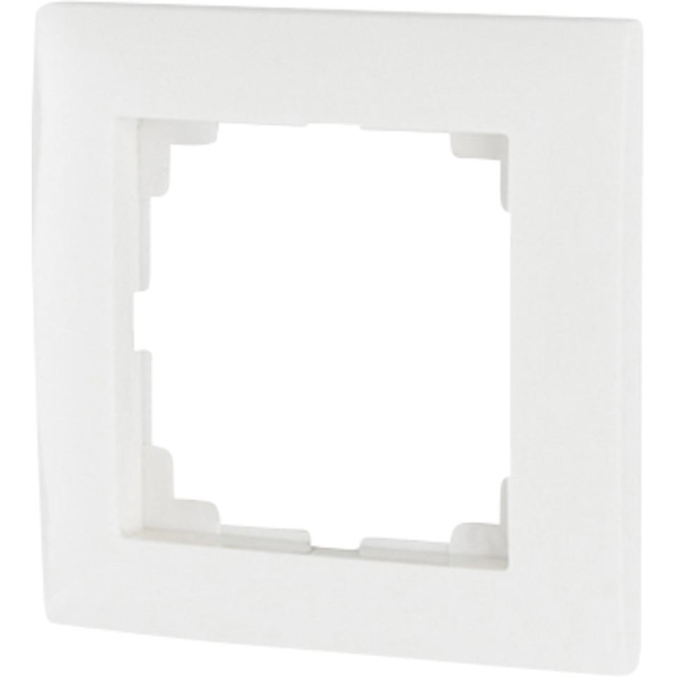 xComfort Ramme enkel hvit for 55x55mm CRAZ-01/01
