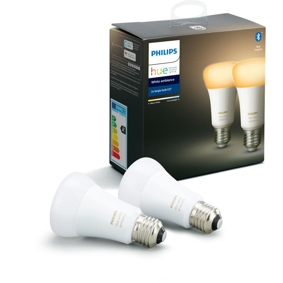 Philips Hue WA E27 Lyskilde A19 8.5W 2pk