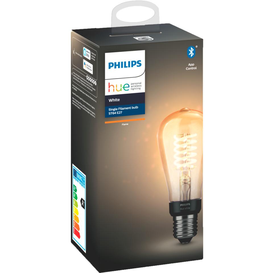 Philips Hue W E27 Filament ST64 7W