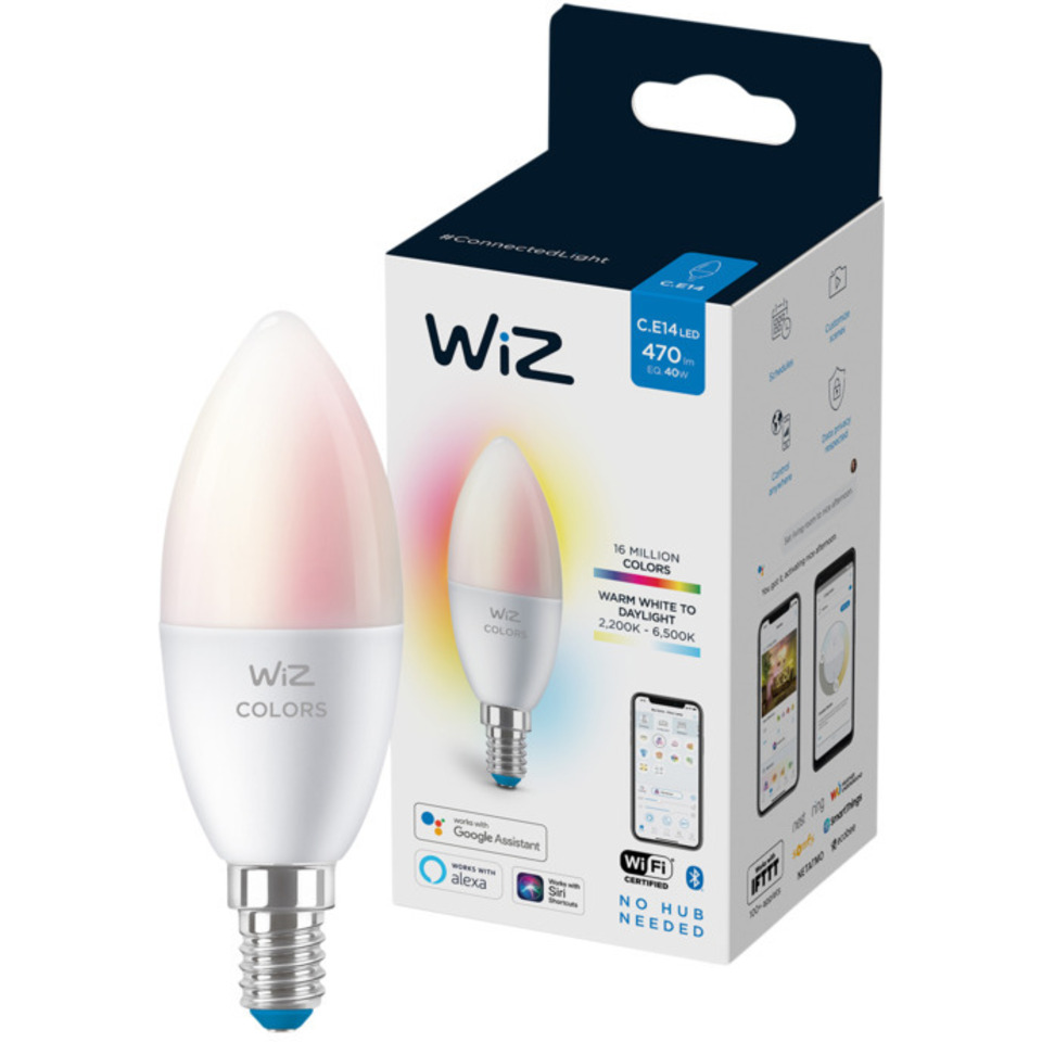 WiZ Lyskilde WCA 4,6W C37 E14 WiFi