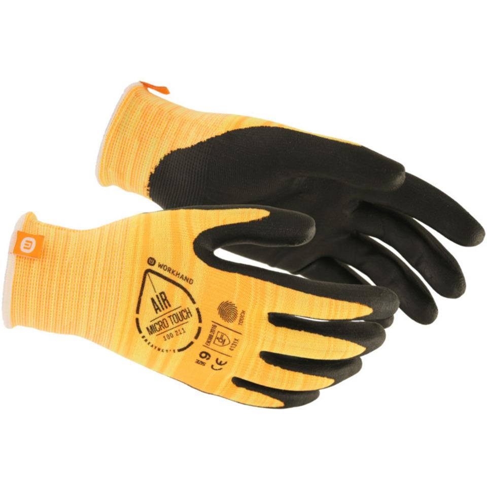 Monteringshanske Workhand Micro Touch Str.10