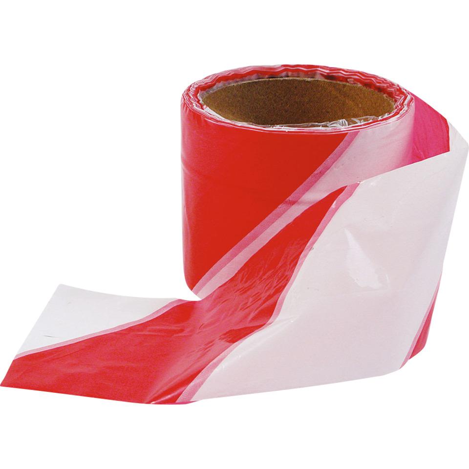 Avsperringsbånd Rød/Hvit 50m