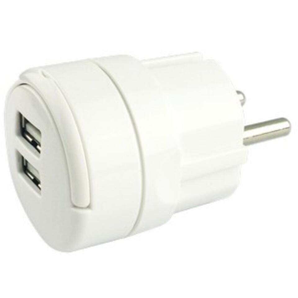 USB Lader dobbel 2,4A | Elektroimportøren AS