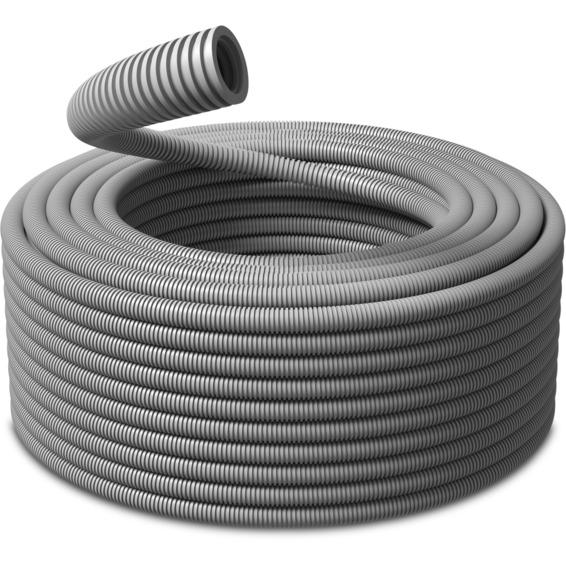 K-rør 16mm (10m) Korrugert plastrør Grå PVC PM-Flex