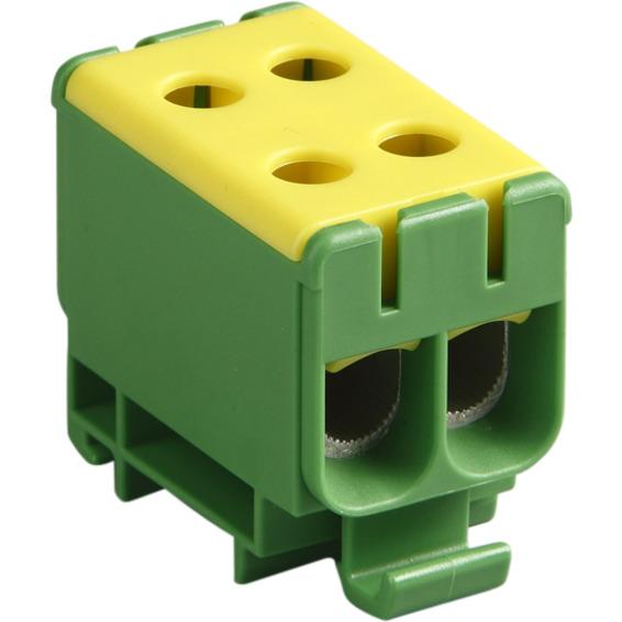KE 66.3 Universalklemme. 50mm² AL/CU Gul/Grønn