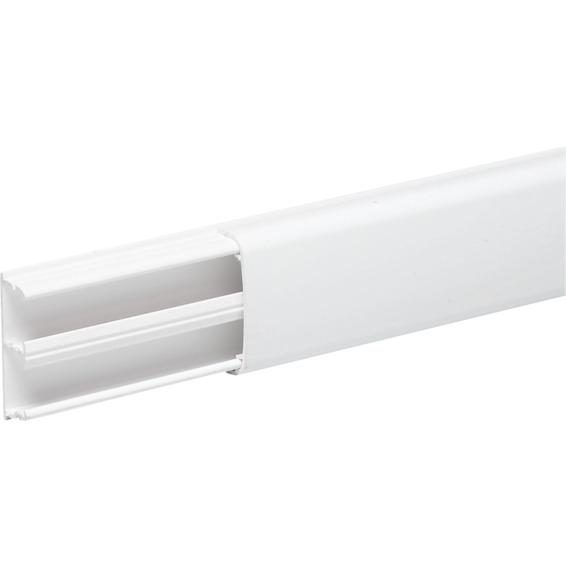 Minikanal 2 rom hvit PVC OL1230. Lengde 2,1 meter