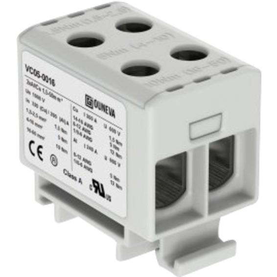 Klemme isolert OTL 2x1,5-50mm² AL/CU Grå