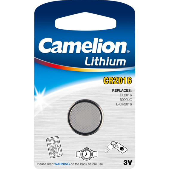 Batteri CR2016 Lithium 3V Camelion