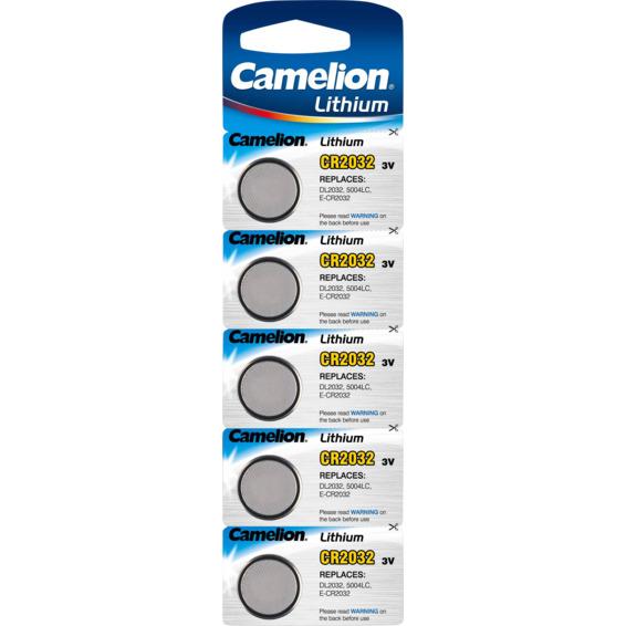 Batteri CR2032 Lithium 3V 5pk Camelion