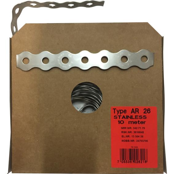 Patentbånd AR 26mm Rustfritt Stål A-4 10 meter