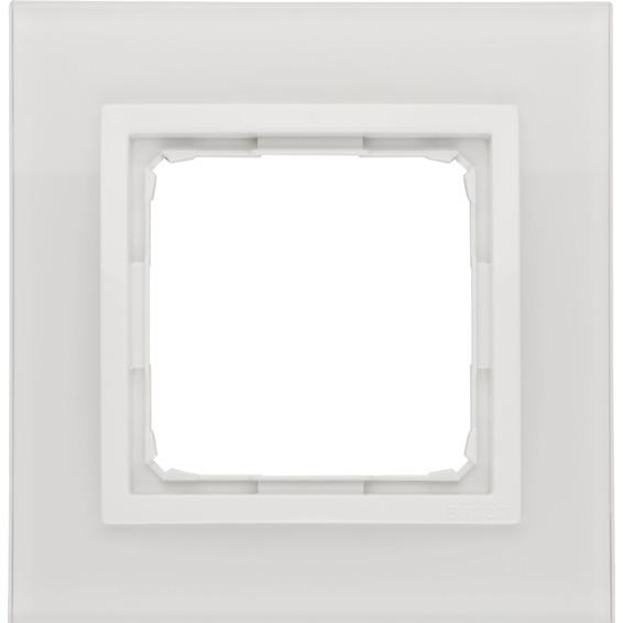 Simon 1-Hulls glass ramme White Pearl