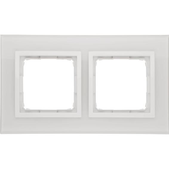 Simon 2-Hulls glass ramme White Pearl