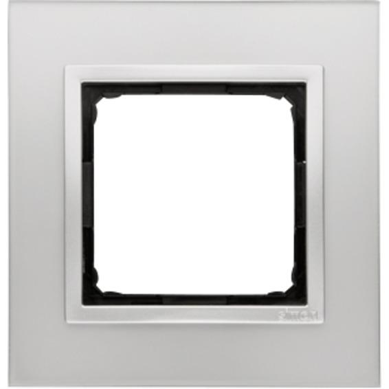 Simon 1-Hulls glass ramme Silver Fog