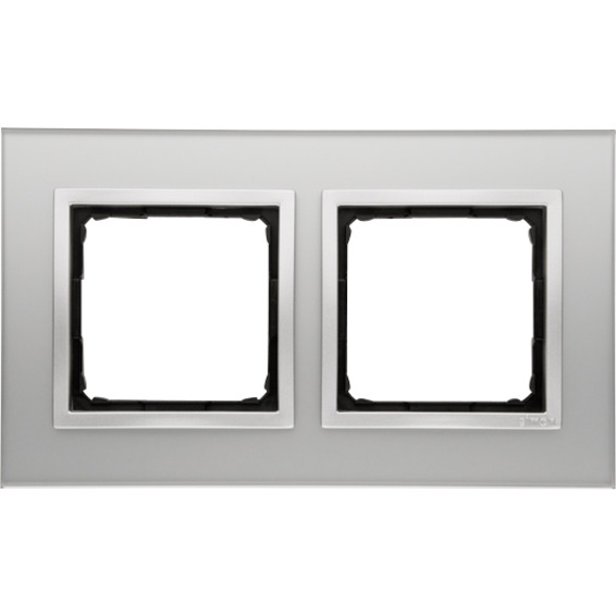 Simon 2-Hulls glass ramme Silver Fog