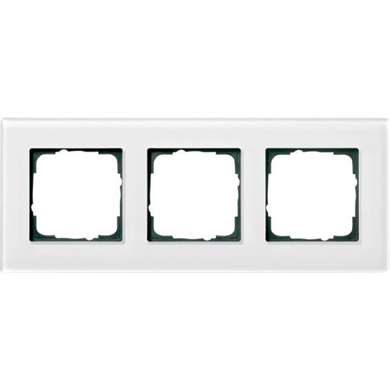 3-H RAMME HVITT GLASS ESPRIT