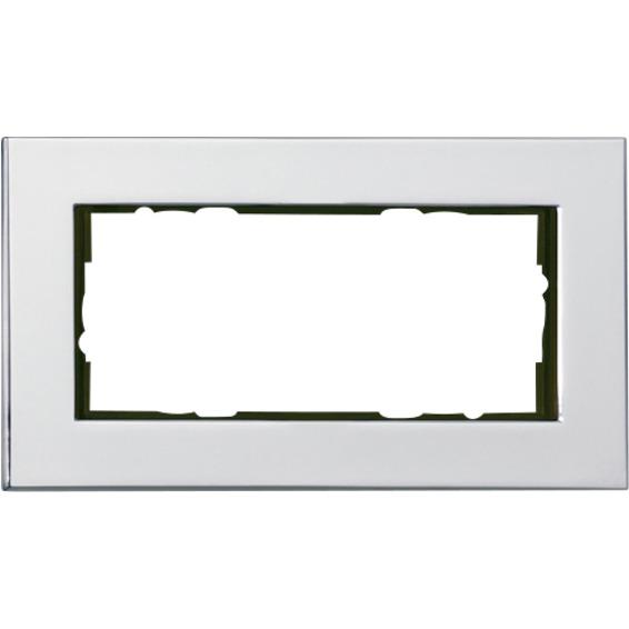 2-HULLS RAMME ÅPEN HVITT GLASS ESPRIT