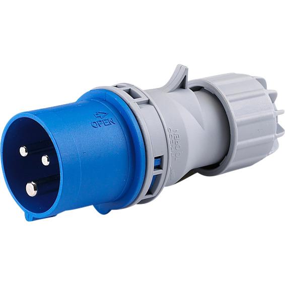 Støpsel 16A 2P+J 230V 6H IP44. 216-6 HTN013