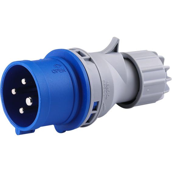 Støpsel 32A 3Pol+J 230V 9H IP44. 332-9 HTN024-9