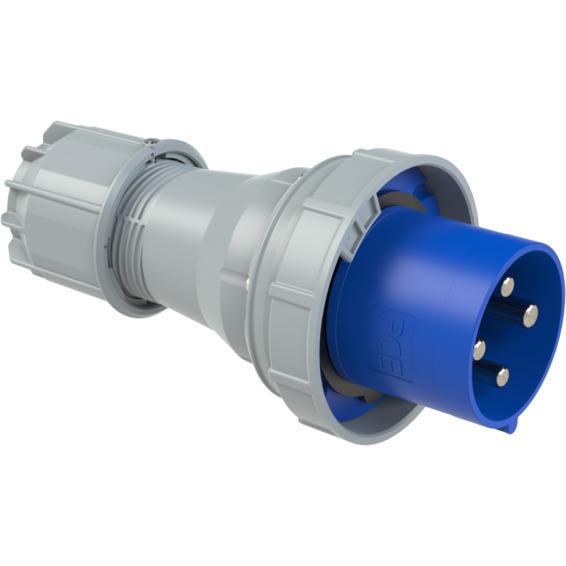 Støpsel 125A 3P+J 230V 9H  IP67