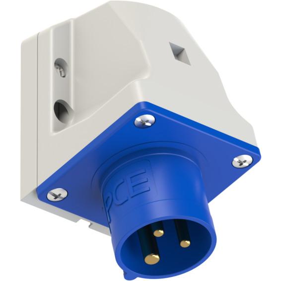 Apparatinntak IP44 16A 2P+J 230V 6H