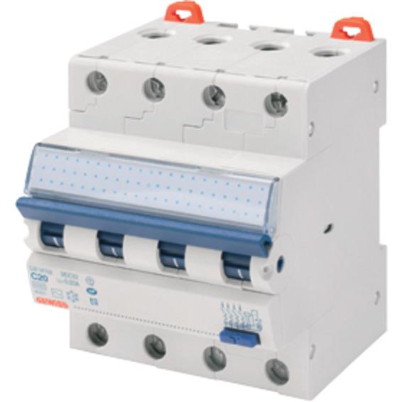 Jordfeilautomat Gewiss 420C 20A 4-pol 4 mod C-karakteristikk