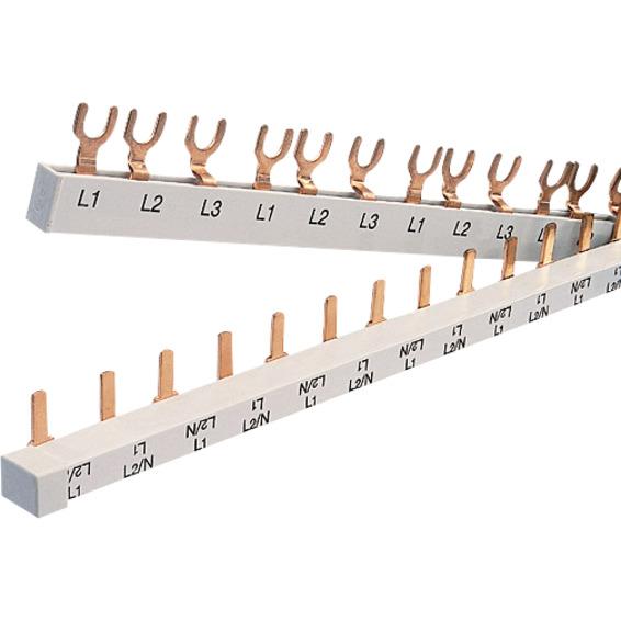 SAMLESKINNE 3P Gaffel JFA 3 moduls 2P 16mm² 1 meter CV023306