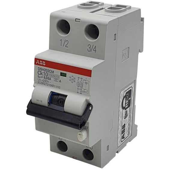 Jordfeilautomat 2p C 10A 30mA DSH202C M Ck10 A30 ABB