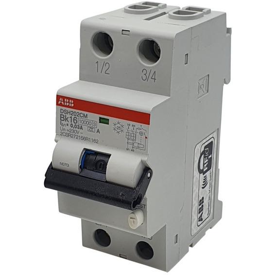 Jordfeilautomat 2p B 16A 30mA DSH202C M Bk16 A30 ABB
