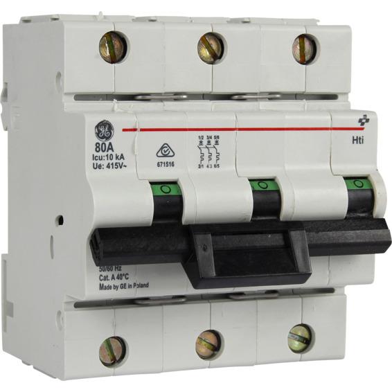 Effektbryter HTI 103 B 80A 3-Pol Modulær 10kA