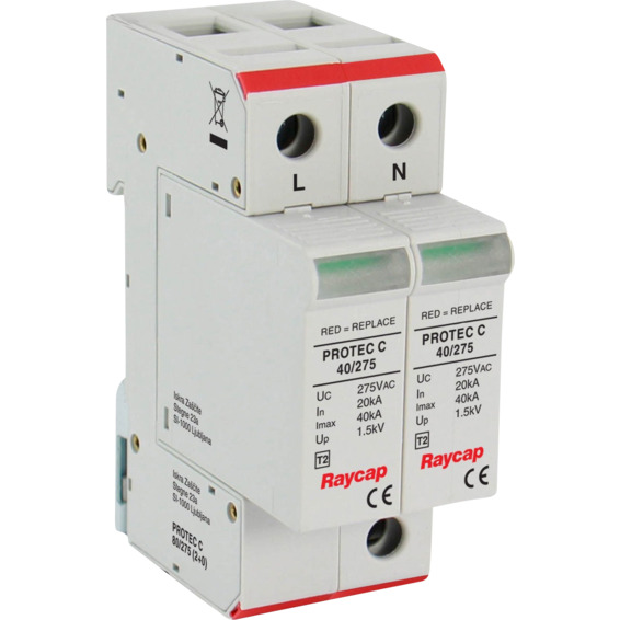Overspenningsvern Protec 2-pol C80/275V 20KA EFA