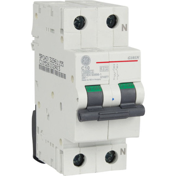 Automatsikring 1 Pol+N 10 A C Kar.2 Moduler EFA