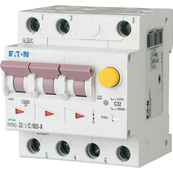 Jordfeilautomat PKPM3-10/3/C/003-G/A Eaton